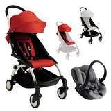 Paket YOYO+ Chassi med Sittbas + Färgklädsel + Babyskydd Vit/Röd/Svart