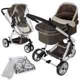 Barnvagn 3-hjulig brun