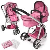 Barnvagn 3-hjulig rosa