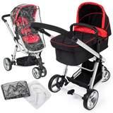 Barnvagn 3-hjulig svart