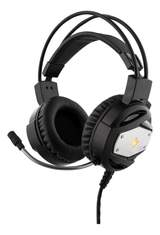 GAMING headset with mic, LED light, black