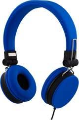 Streetz headset för iPhone, mikrofon, noisecancelling,1,5m, blå