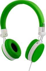 Streetz headset för iPhone, mikrofon, noisecancelling,1,5m, grön