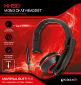 XH-50 Wired Mono Headset (Black/Red)