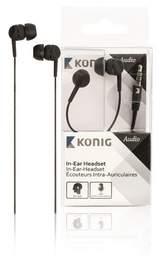 In-ear headset svart