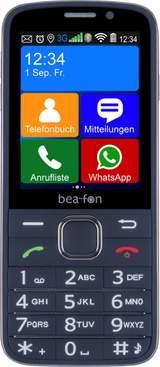 Senior-mobiltelefon beafon SL810 Svart (gummerad), Svart
