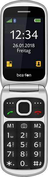 Senior-mobiltelefon vikbar SL640 Svart-silver