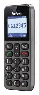 """Mobil Telefon 1.8"""" Big Button Phone Mörkgrå"""