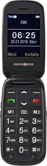 Senior-mobiltelefon vikbar BBM 625 Svart